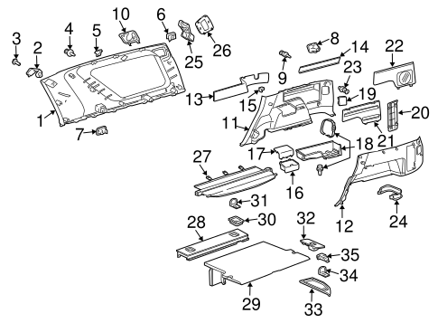 Lid Assembly - Toyota (62693-35030-B0)