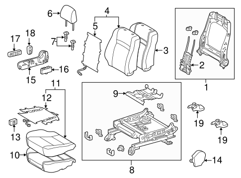 BODY/PASSENGER SEAT COMPONENTS for 2015 Toyota Camry #1
