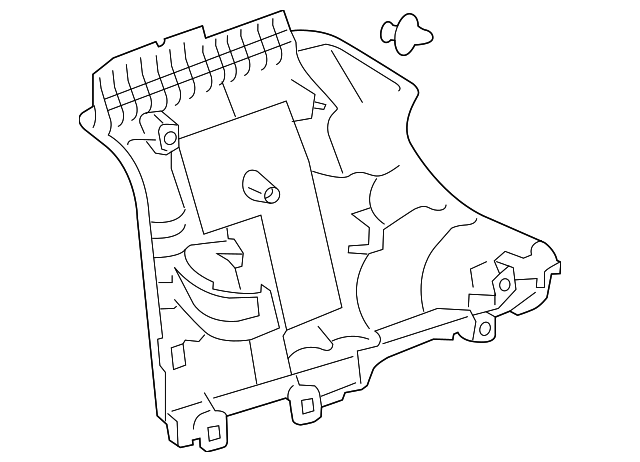 Quarter Trim Panel - Toyota (62412-74010-B0)