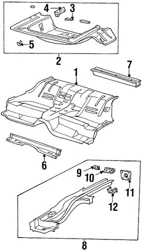 oem rear floor  u0026 rails for 2002 saturn sc1