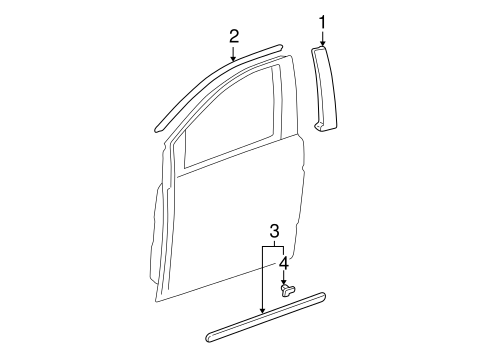 OEM Honda 75322-SHJ-A22ZR - Body Side Molding