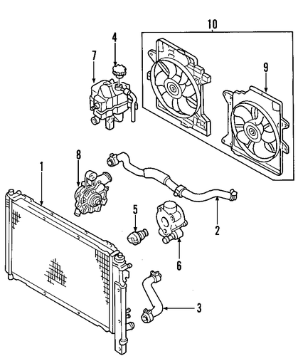radiator  u0026 components for 2005 ford escape