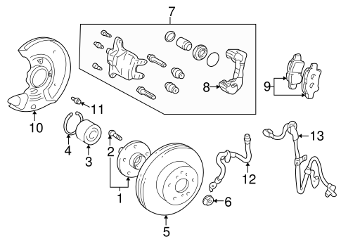 BRAKES/BRAKE COMPONENTS for 2000 Toyota Echo #2