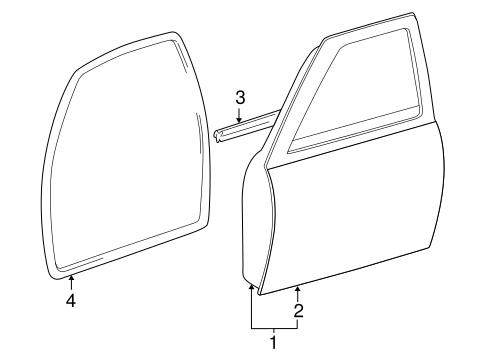 Outer Panel - Toyota (67111-04051)