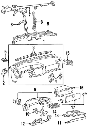 Glove Box - Toyota (55581-33010)