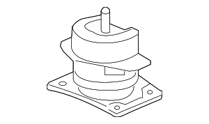 Rubber Assembly, Front Engine Mounting - Honda (50830-SJC-A01)