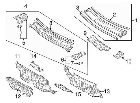 Foot Rest - Toyota (58191-0E011)