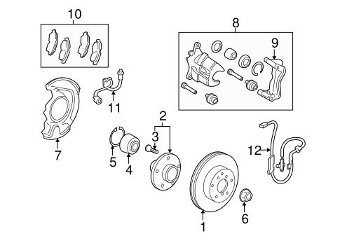 BRAKES/FRONT BRAKES for 2013 Toyota Matrix #1