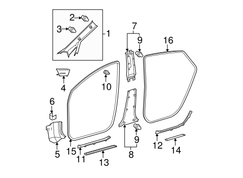 Weather-Strip On Body - Toyota (62312-47030-C0)
