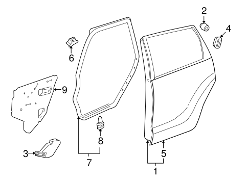 Water Deflector - Toyota (67841-02180)
