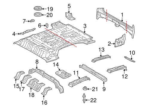 BODY/REAR BODY for 1998 Toyota Land Cruiser #1
