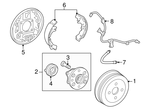 BRAKES/BRAKE COMPONENTS for 2008 Scion xD #1