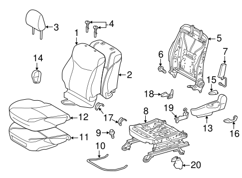 BODY/DRIVER SEAT COMPONENTS for 2015 Toyota Prius Plug-In #2