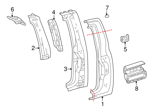 Reinforcement - Toyota (67175-34010)