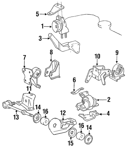 Side Mount - Toyota (12372-74281)