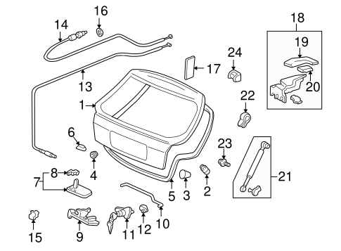 OEM Honda 85268-SA5-003 - Lift Gate Stopper