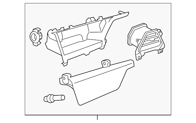 Storage Compartment - Toyota (55042-08040-B1)