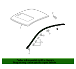 2006 Honda ACCORD COUPE EXL MOLDING, R. WINDSHIELD SIDE - (73153SDNA01)