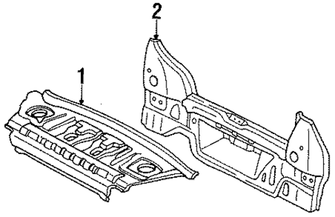 BODY/REAR BODY for 1997 Toyota Tercel #1