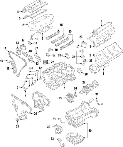2005 nissan pathfinder engine mounts diagram
