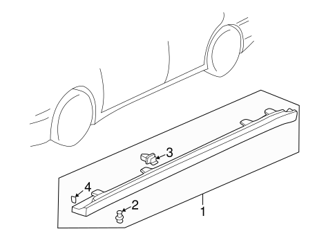 1999 Honda ACCORD SEDAN EXV6 GARNISH ASSY., L. SIDE SILL *NH578* (TAFFETA WHITE) - (71850S84A10ZC)