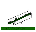 1999 Honda ACCORD SEDAN EXL (LEATHER) GARNISH ASSY., R. SIDE SILL *G87P* (DARK EMERALD PEARL) - (71800S84A10ZB)
