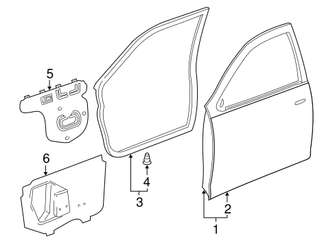 Door Weather-Strip - Toyota (67861-AC020)