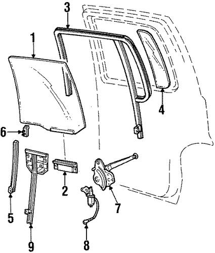 rear door for 1998 mercury mountaineer
