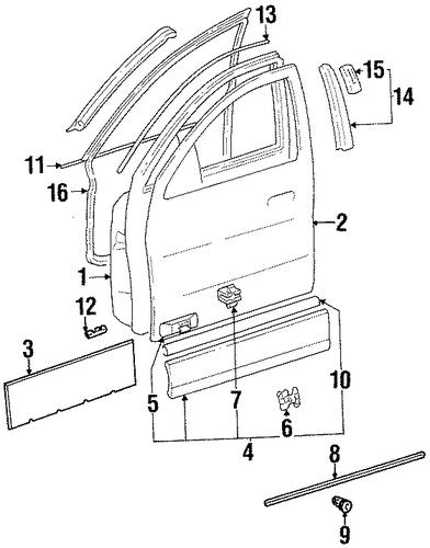 Exterior trim front door for 1998 mercedes benz s320 for Mercedes benz exterior parts