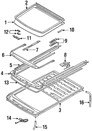 Guide Rail Seal - Toyota (63699-12040)
