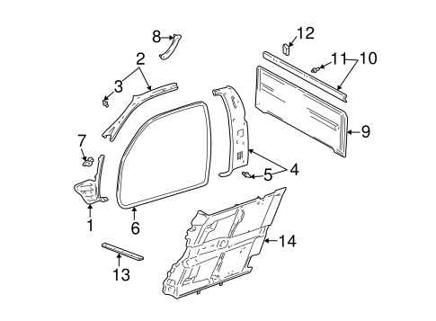 Door Weather-Strip - Toyota (62312-0C020)