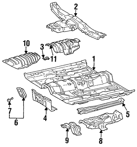 BODY/FLOOR & RAILS for 1996 Toyota Avalon #1
