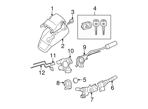 STEERING/SHROUD, SWITCHES & LEVERS for 2008 Toyota Tundra #1