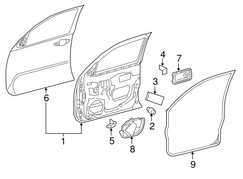 Door Shell Pad - Toyota (67813-04010)