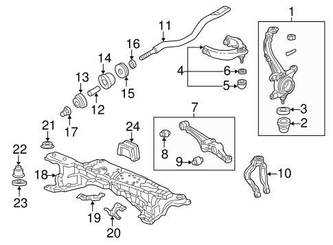 OEM Honda 51393-SV1-A01 - Bush, Front Arm (Lower)