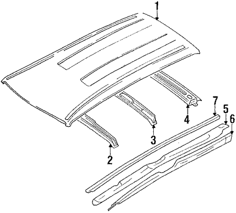 Roof Rail - Toyota (63105-13090)
