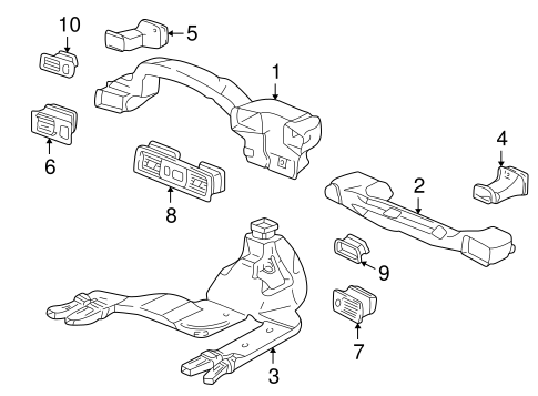 OEM Honda 77611-S10-A01ZA - Air Outlet