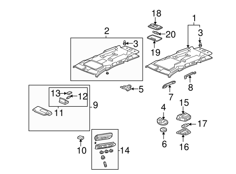 OEM Honda 83241-SHJ-A01 - Bracket, Grab Rail (First)