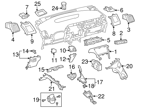 Lower Panel - Toyota (55432-47050-E0)