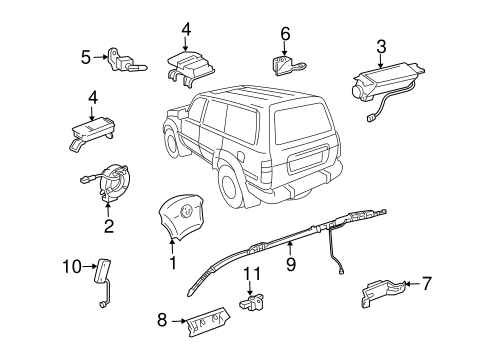 ELECTRICAL/AIR BAG COMPONENTS for 1998 Toyota Land Cruiser #1