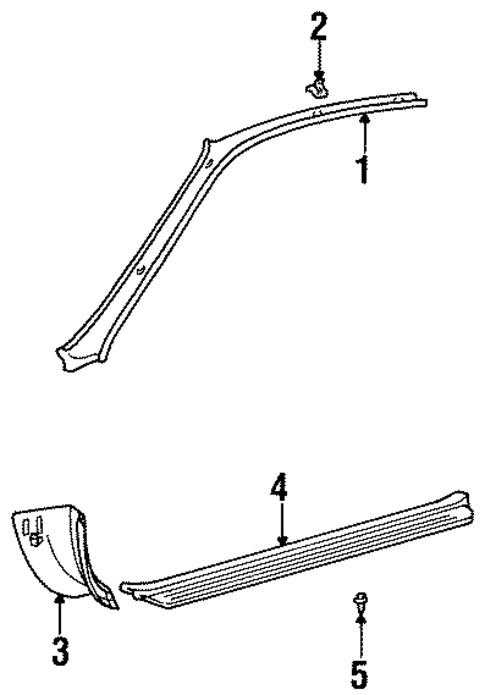 Windshield Trim - Toyota (62220-16020-B0)