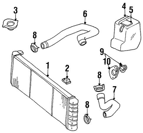 radiator  u0026 components for 1999 jeep cherokee