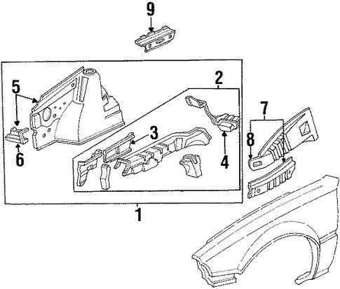 OEM Honda 60716-SD9-661ZZ - Rear Support