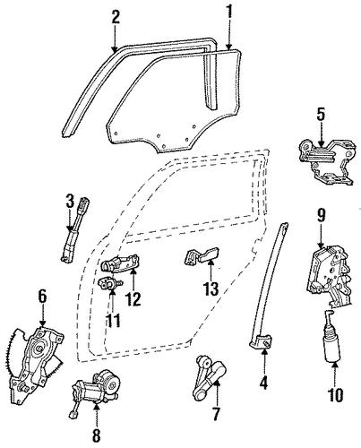 2015 Ford Taurus Se: Window Motor For 1995 Ford Taurus