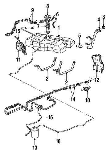 fuel system components for 1995 chevrolet caprice