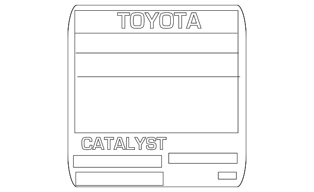 Emission Label - Toyota (11298-28660)