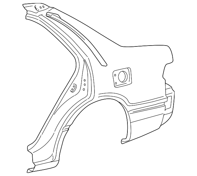 Quarter Panel - Toyota (61602-AA901)