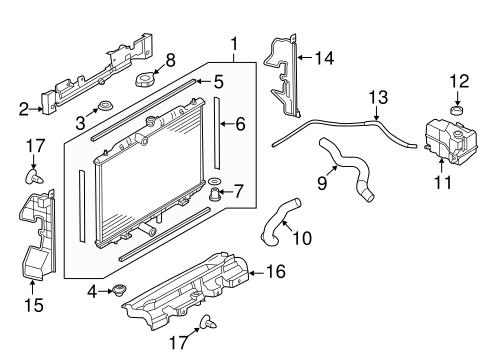 radiator  u0026 components for 2015 nissan rogue