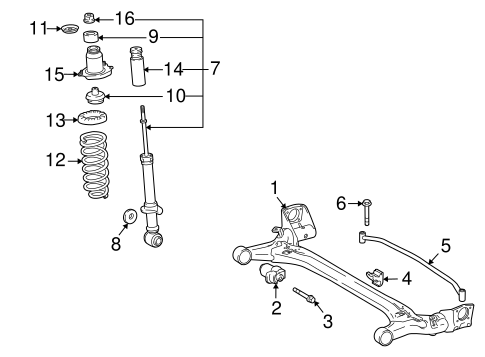 REAR SUSPENSION/REAR SUSPENSION for 2010 Toyota Corolla #1