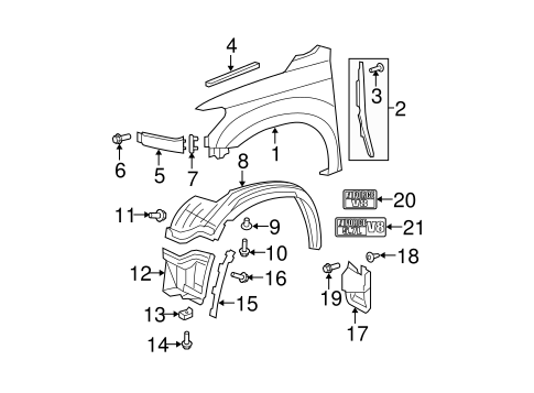 Extension Panel - Toyota (53931-0C060-D0)